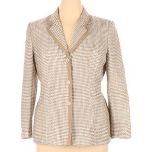 Le Suit Jacket Blazer Beige Tan 14P 14 Petite
